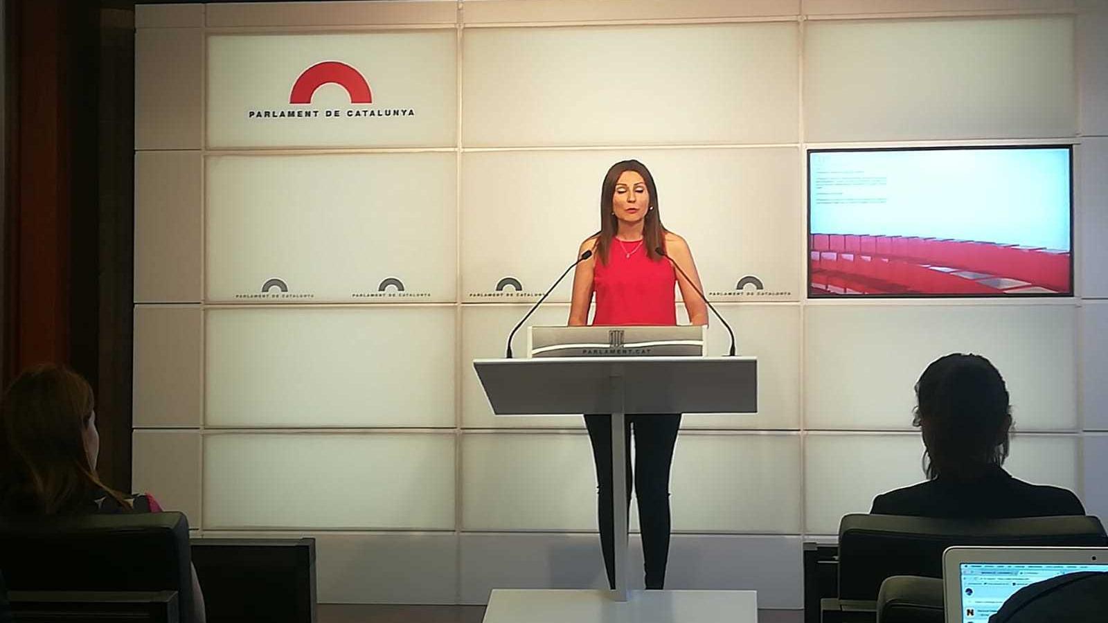 Lorena Roldán, portaveu de Cs, al Parlament aquest dijous
