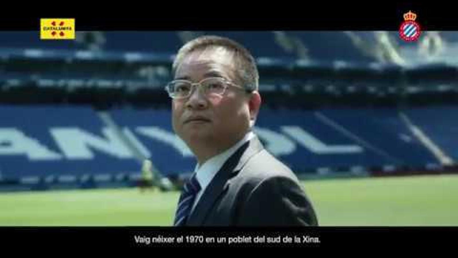 El president de l'Espanyol,  Chen Yansheng, promociona Catalunya a la Xina