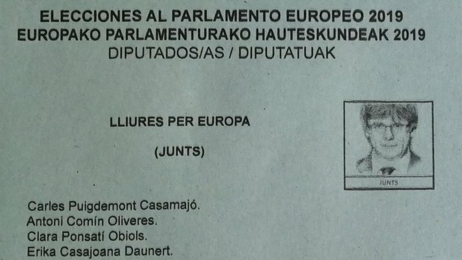 Papereta de Lliures per Europa
