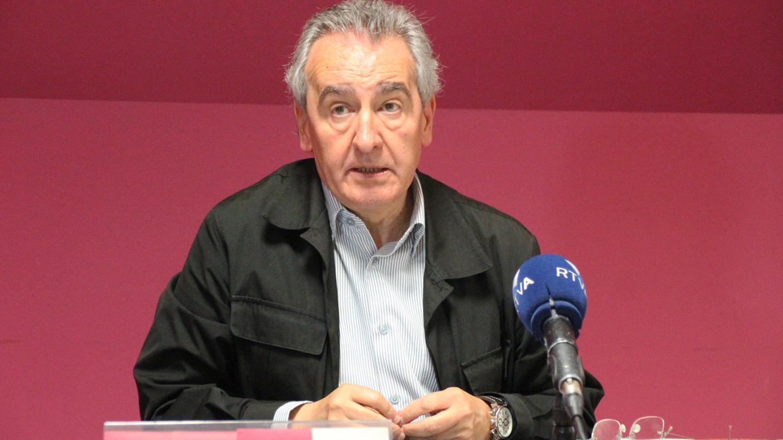 Jaume Bartumeu durant la roda de premsa posterior al consell nacional d'SDP. / C. F. (ANA)