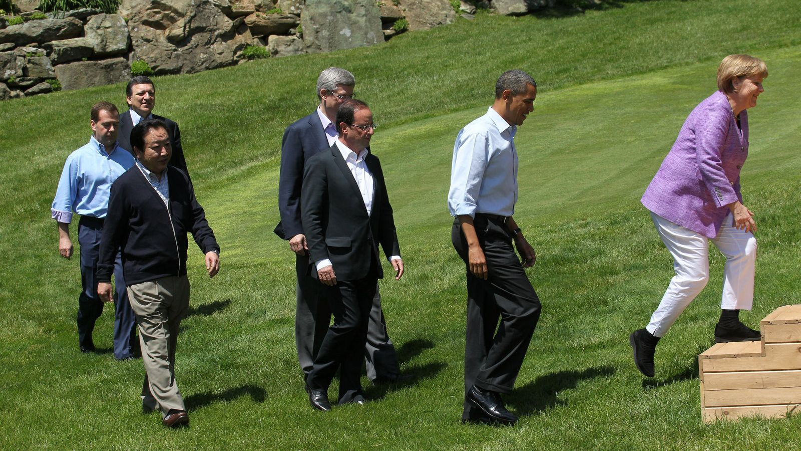 Els líders del G-8 arriben a Camp David. / SASHA MORDOVETS / GETTY IMAGES