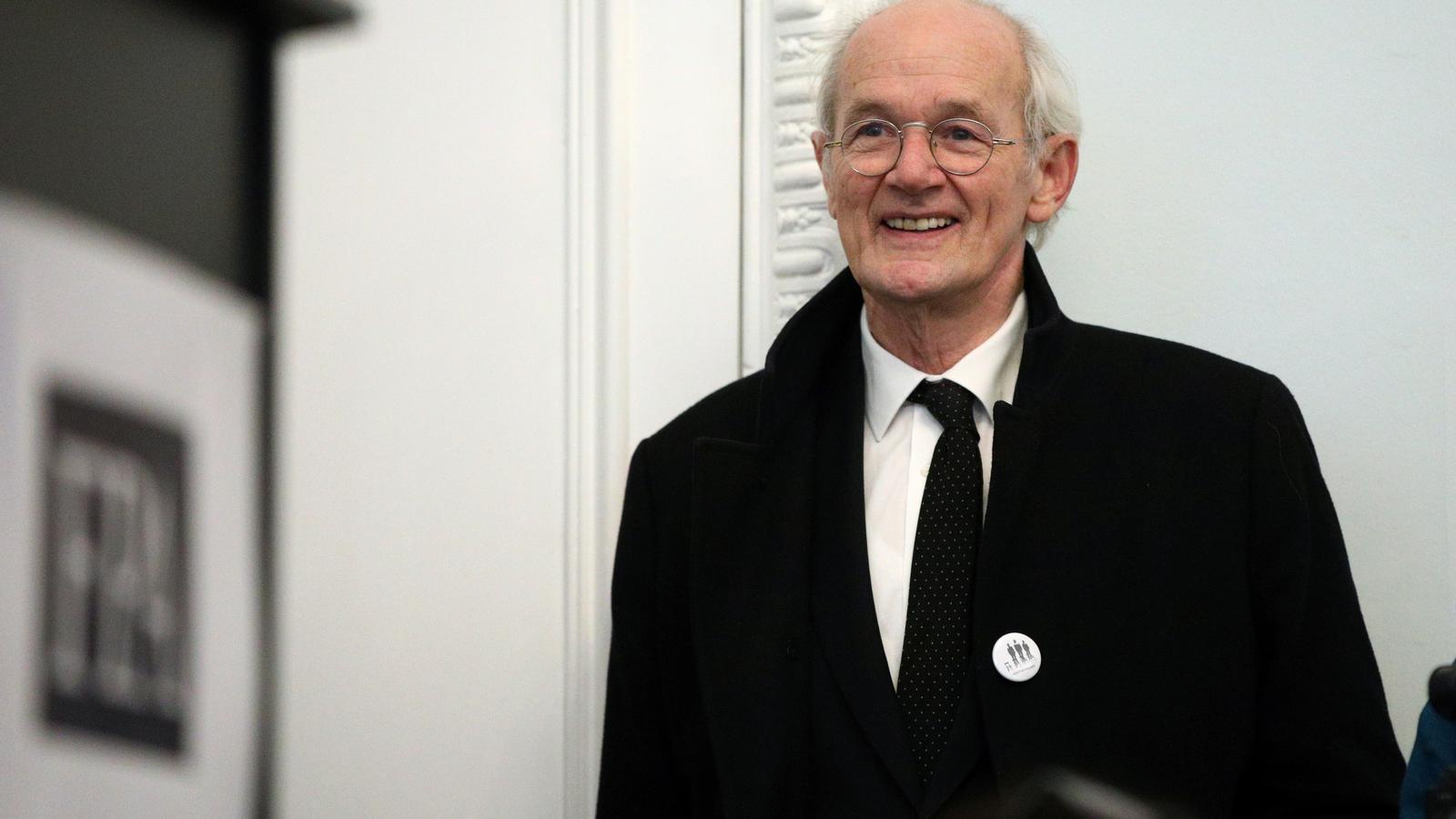 John Shipton, el pare biològic de Julian Assange, aquest dimarts a Londres