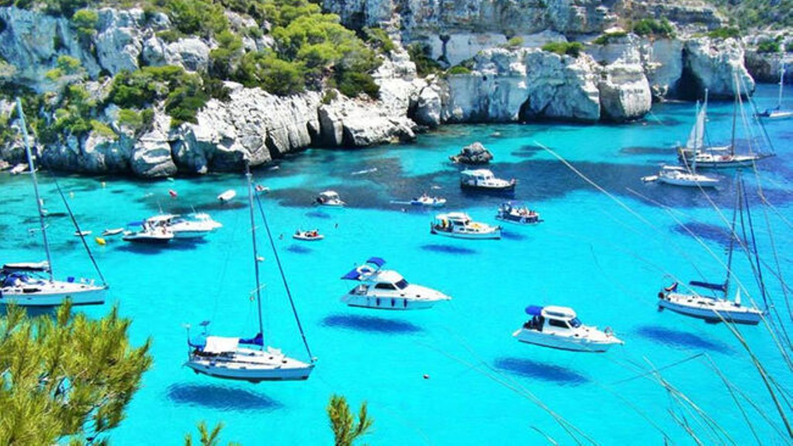 Una de les platges de Menorca.