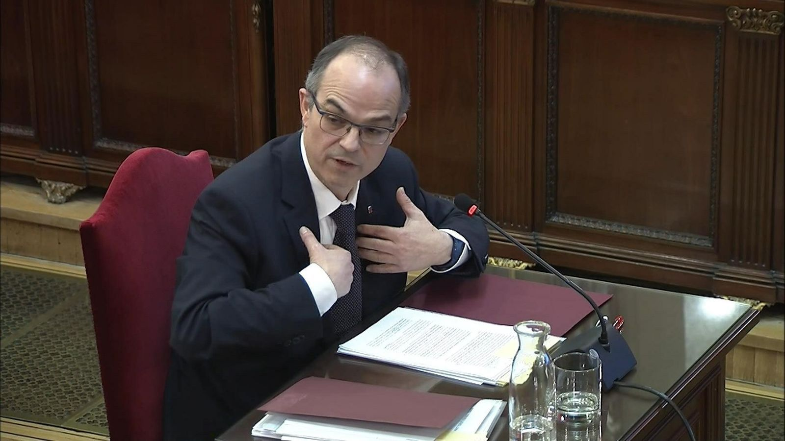The former Catalan minister Turull's harsh replies to the Spanish public prosecutor
