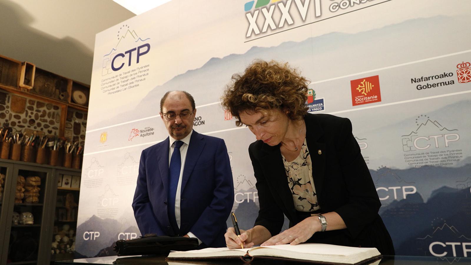 La ministra Maria Ubach, aquest dimrats a Saragossa. / SFG