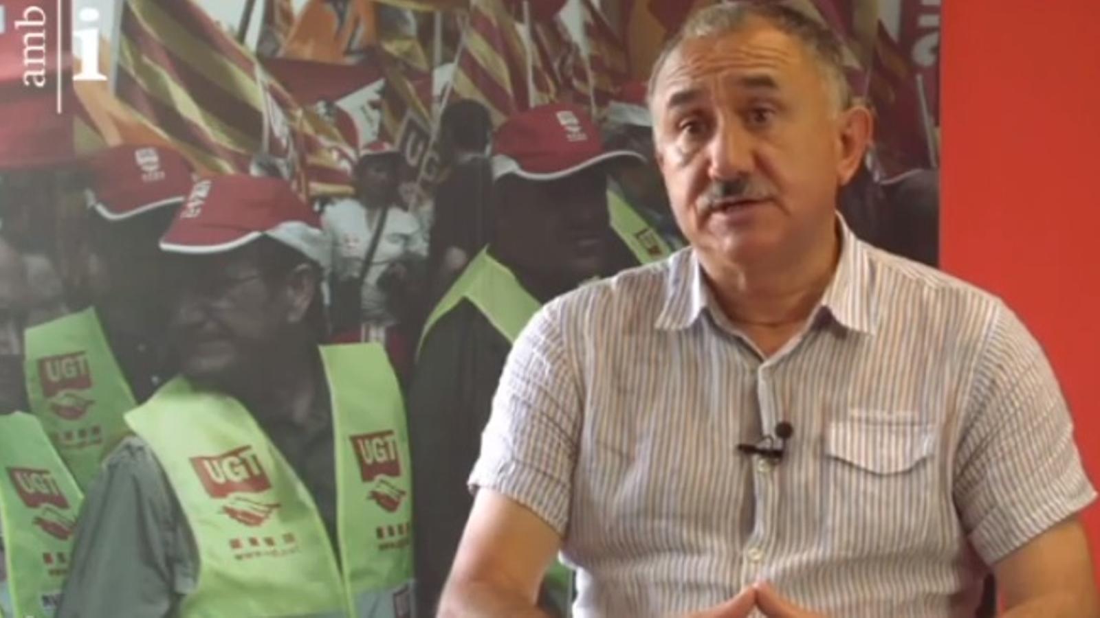 Josep Maria Álvarez explica com seria el món laboral en una Catalunya independent