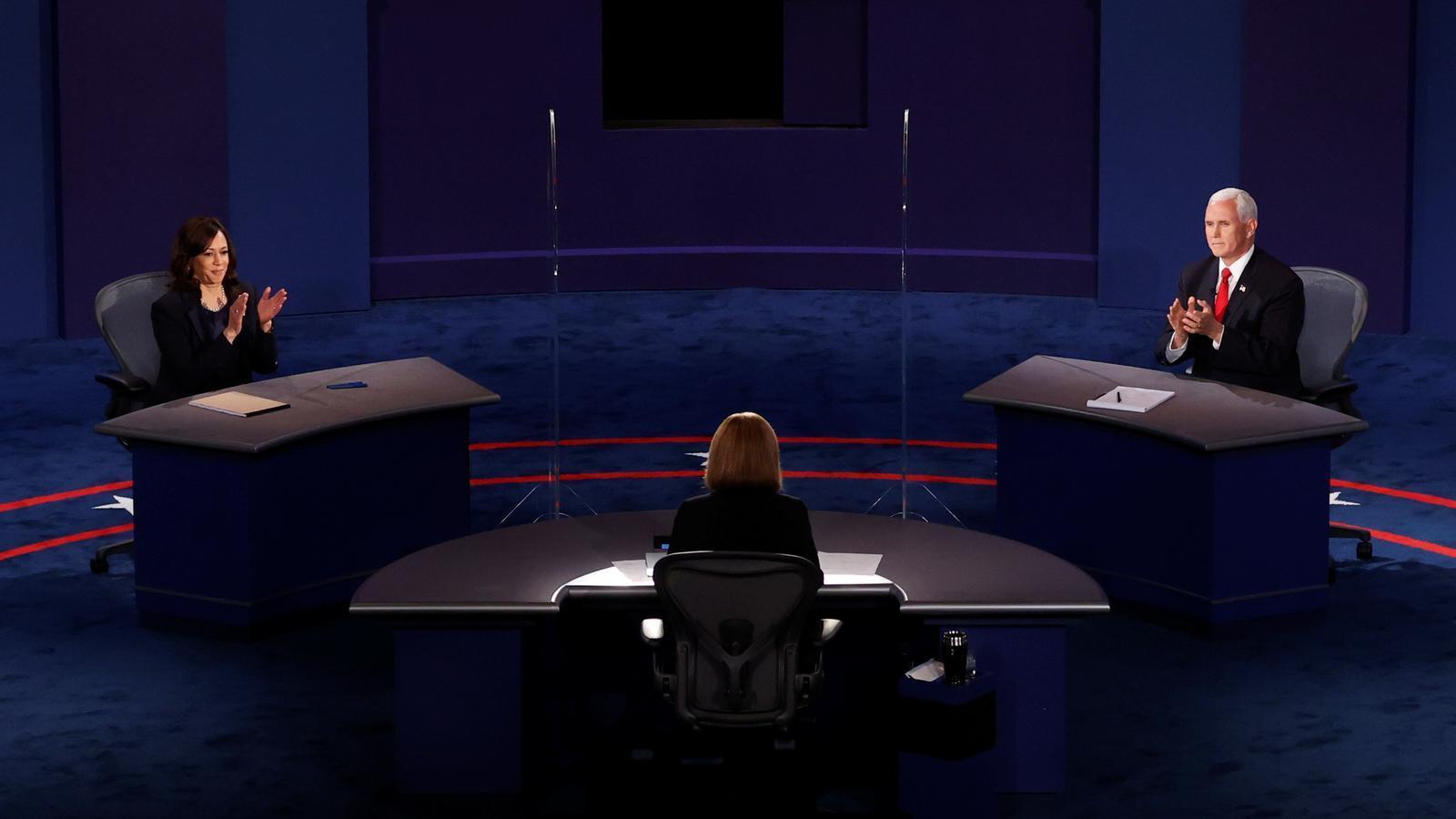 Debat dels candidats a la vicepresidència dels EUA, Mike Pence i Kamala Harris.
