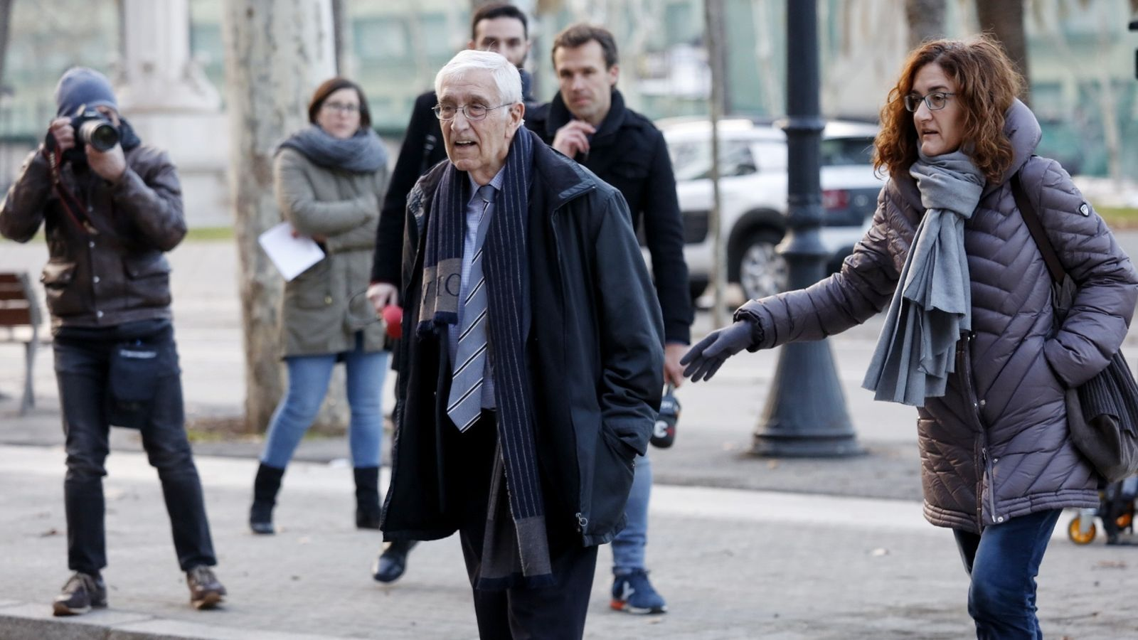 Daniel Osàcar entrant al Palau de Justícia per rebre la sentència del cas Palau