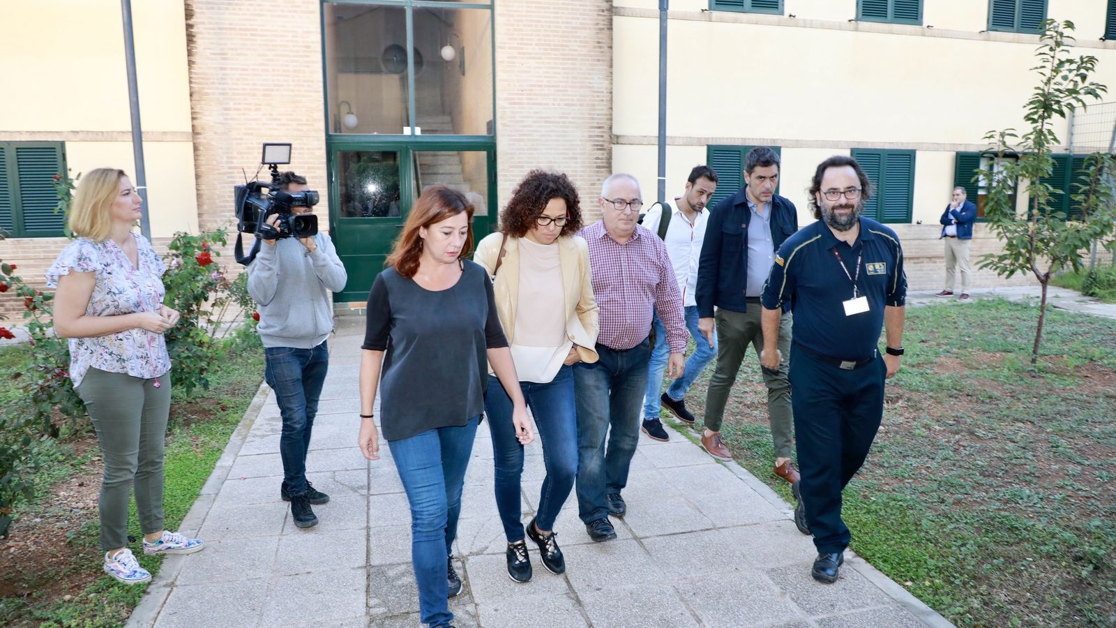 Francina Armengol, Catalina Cladera i el director general d'Emergències, Llorenç Perelló, en una reunió a les dependències de l'112 celebrada dimarts passat.