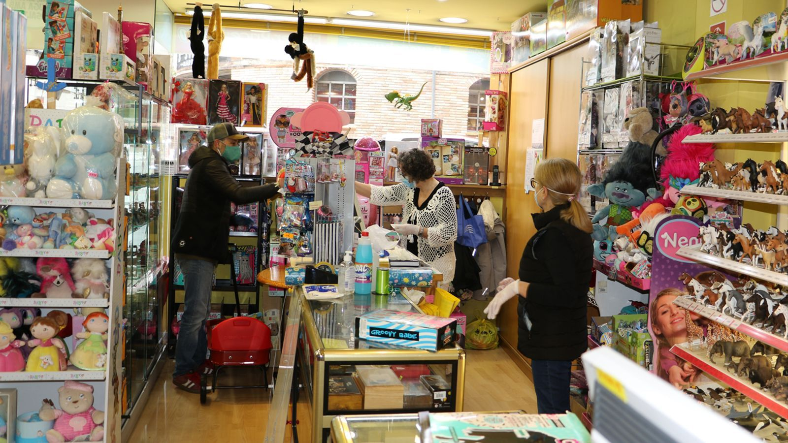 Una botiga de joguines aquest dilluns al matí. / A.M. (ANA)