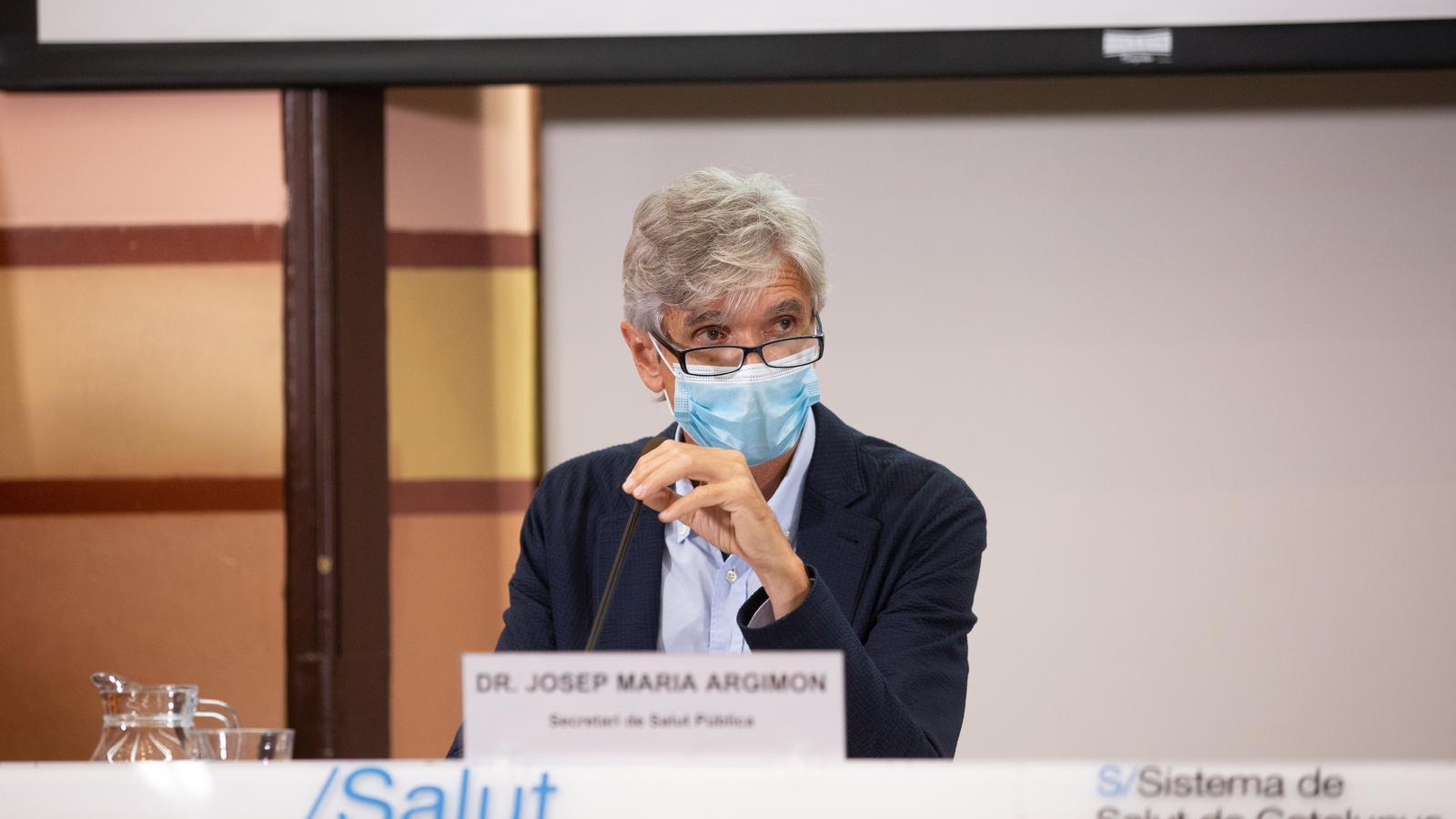 Roda de premsa del secretari de Salut Pública, Josep Maria Argimon, per analitzar l'evolució del covid-19.