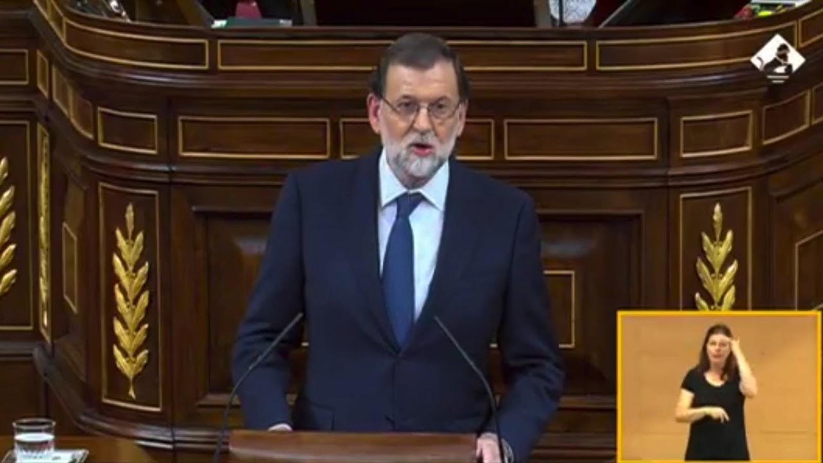 """Rajoy: """"No hi ha mediació possible entre la llei democràtica i la desobediència o la il·legalitat"""""""