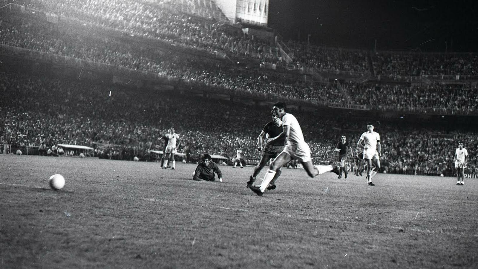 El gol decisiu d'Alfonseda a la final del 1971