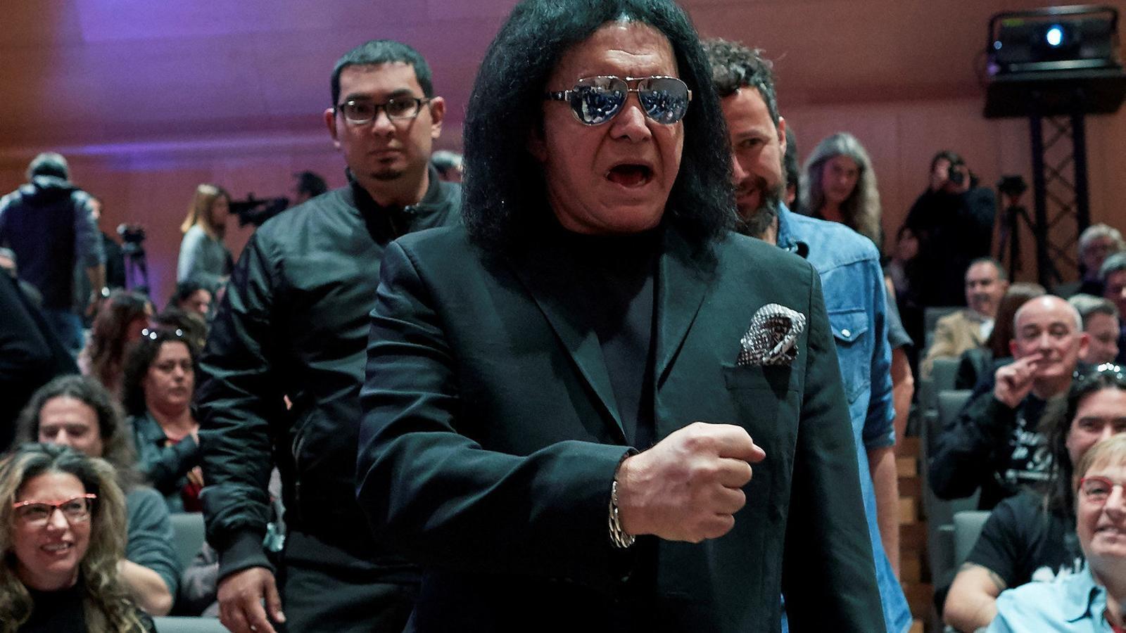 Gene Simmons, de Kiss, ahir a Santa Coloma de Gramenet.