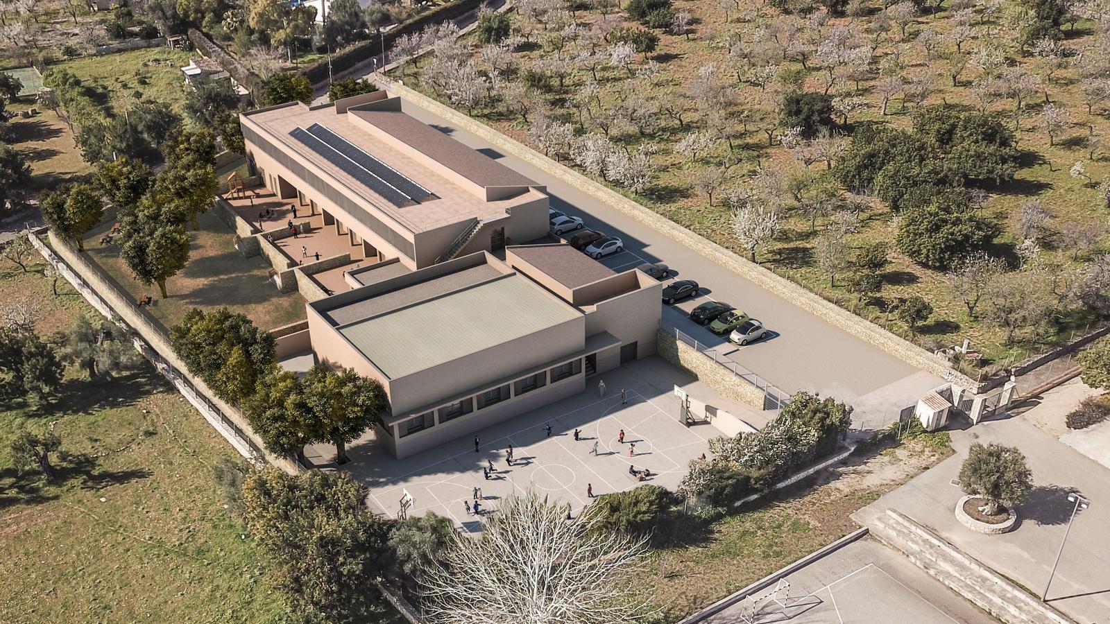 Des del 2017 els 73 alumnes del CEIP Ses Roques fan classe a l'edifici de Ca ses Monges