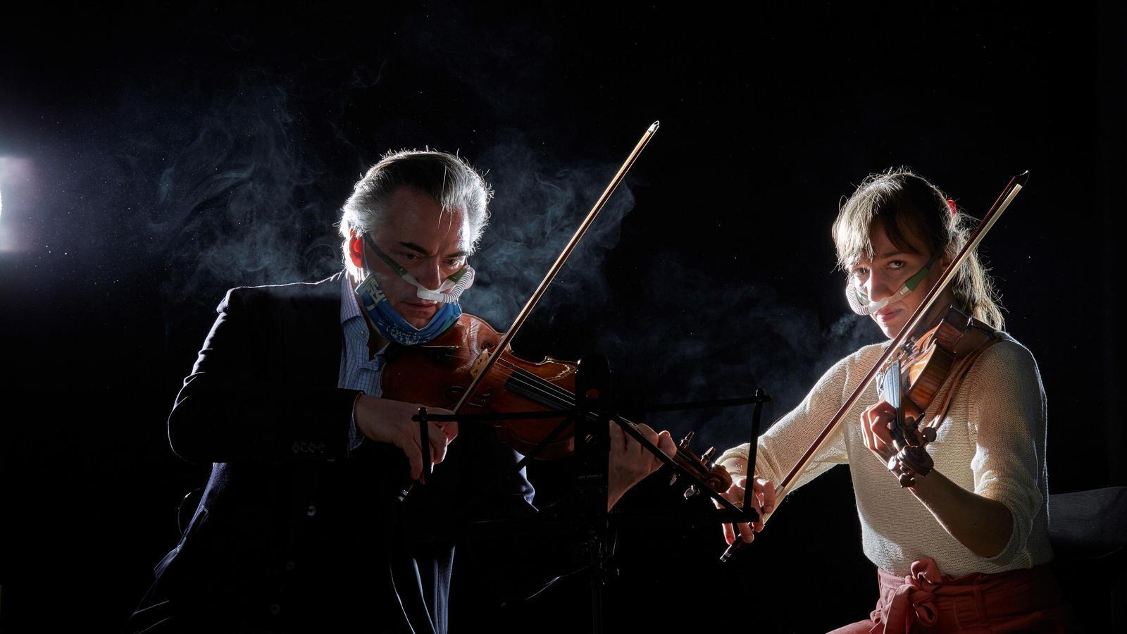 Un moment de l'experiment de la Filharmònica de Viena