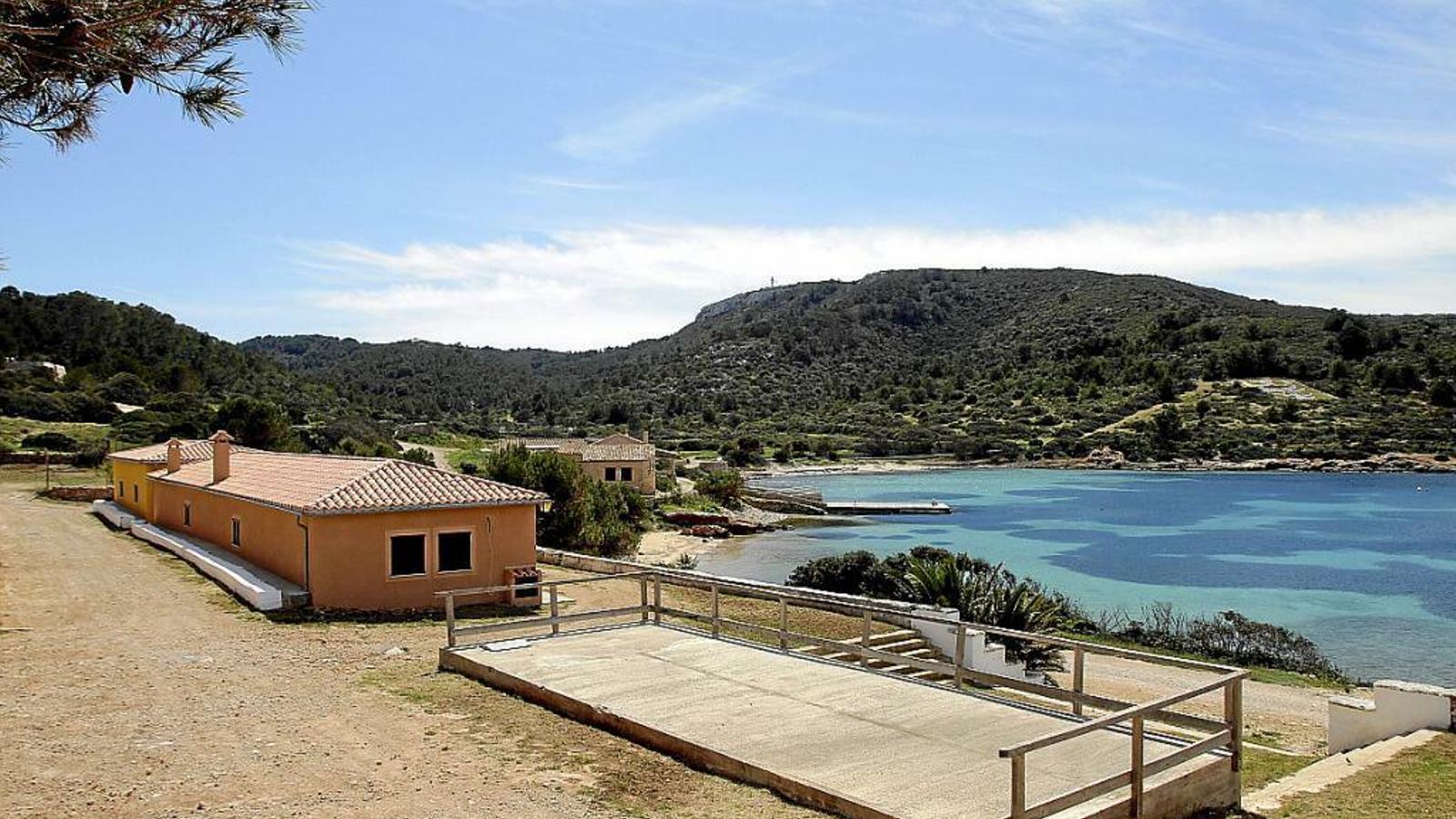 El refugi Rosa dels vents, situat a l'illa de Cabrera