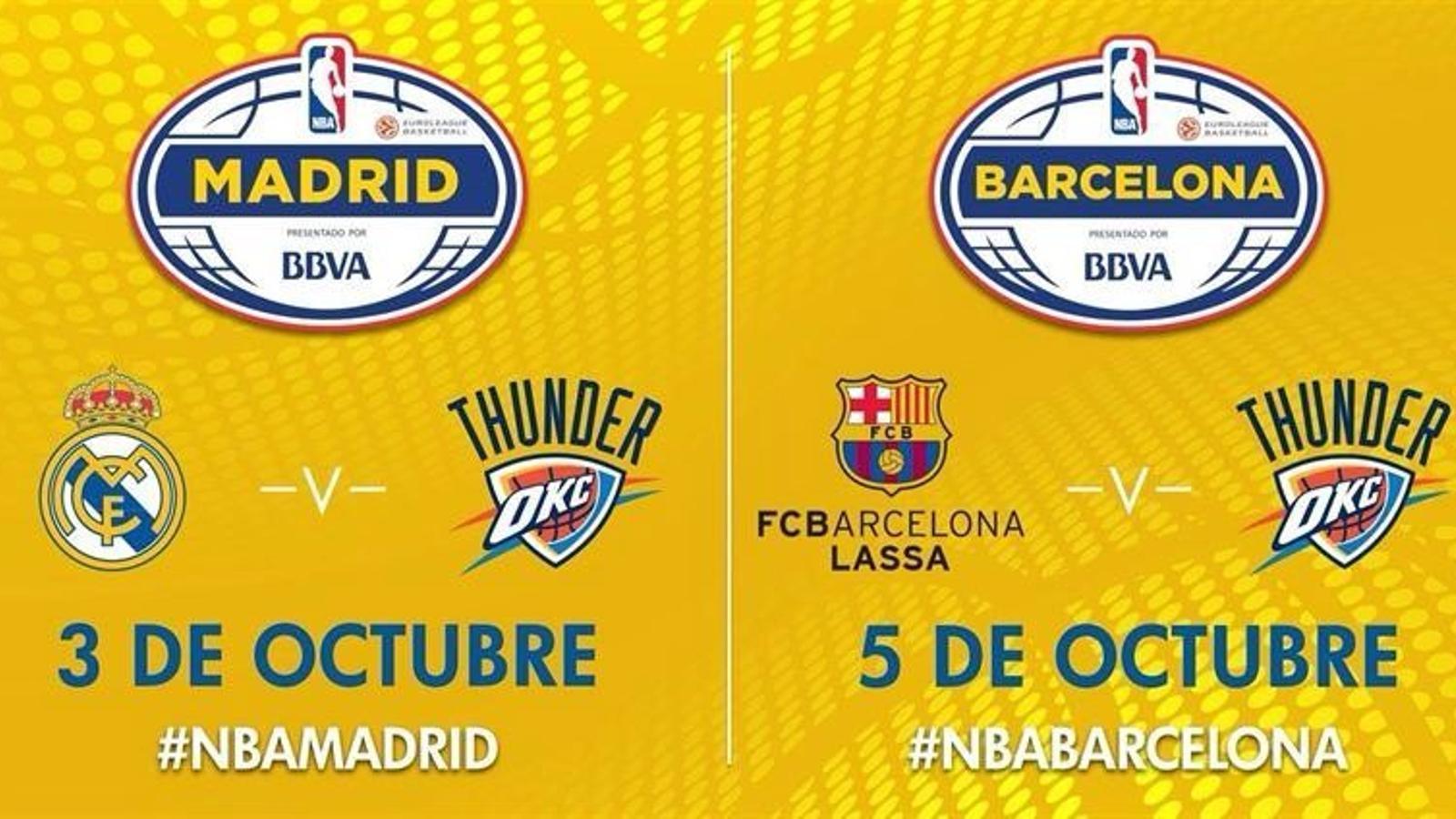 Gira NBA Global Games dels Oklahoma City Thunder per l'estat espanyol