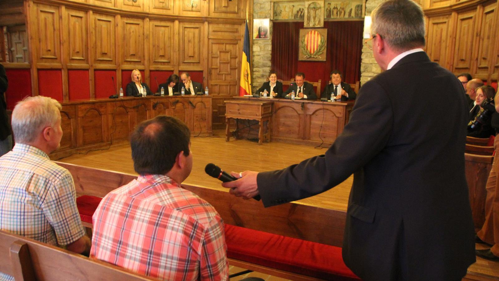 Un moment de la sessió de Consell de Comú celebrada aquest dimecres a la tarda / S.F.