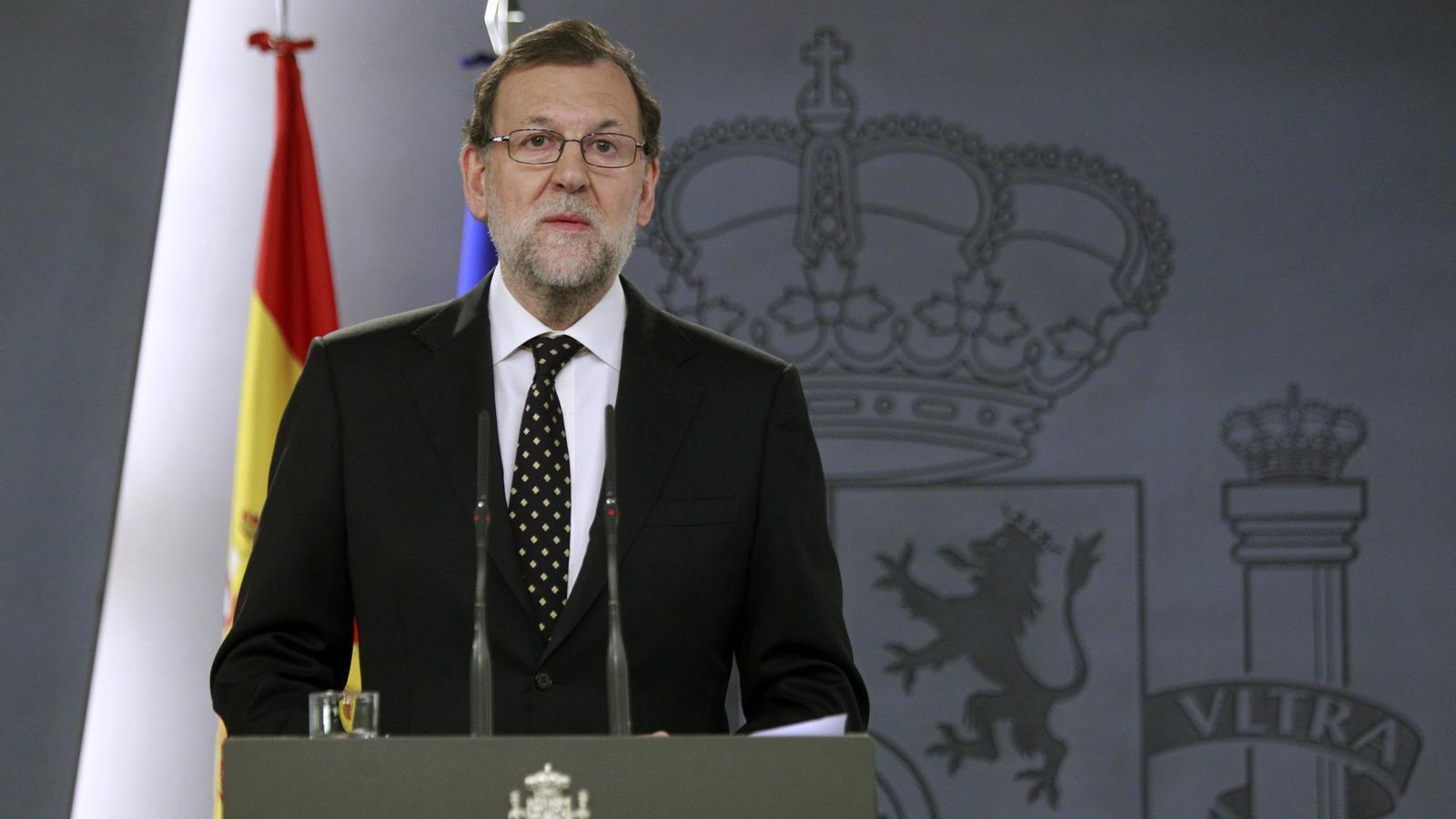Compareixença de Rajoy des de la Moncloa (EFE)