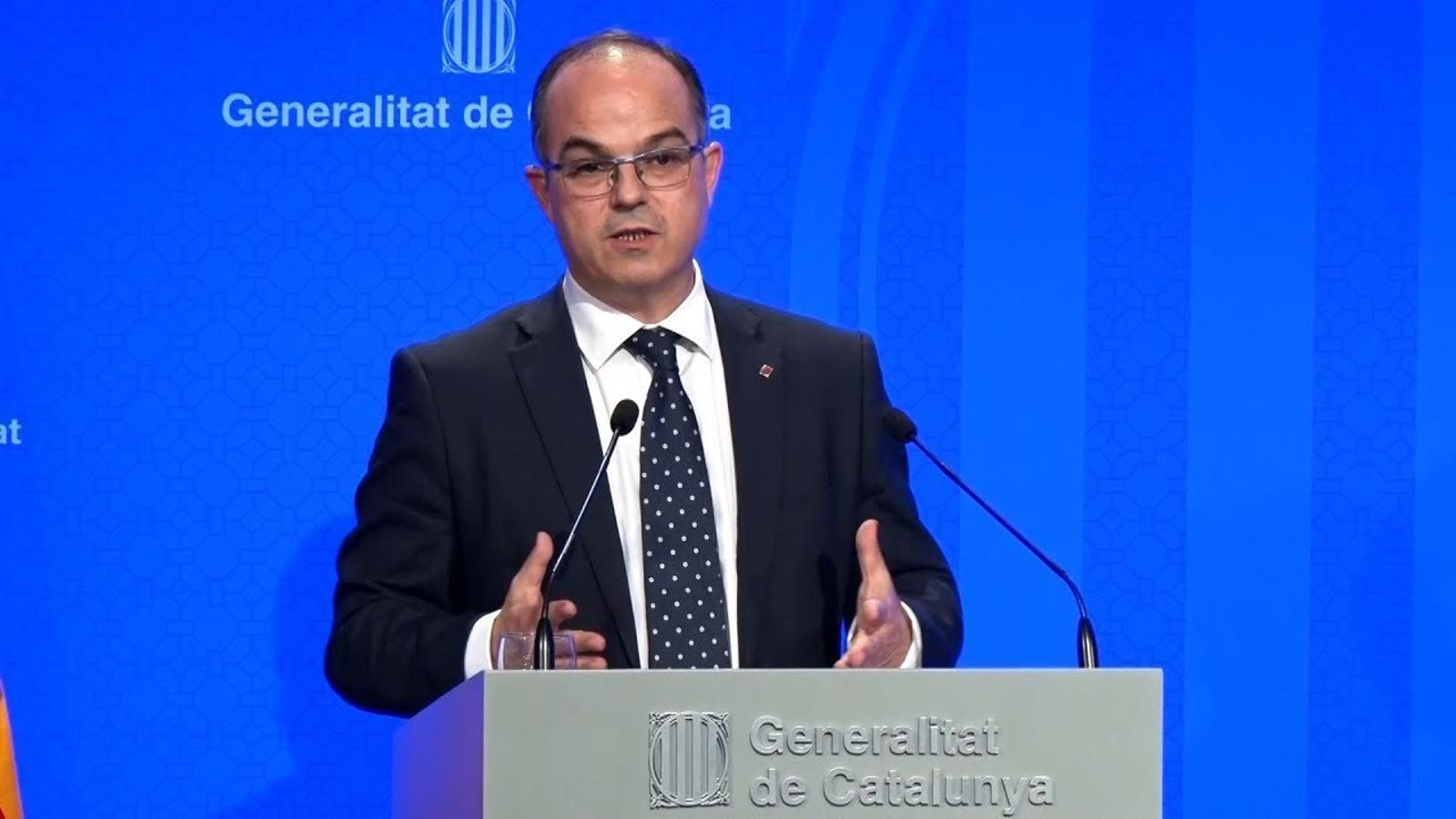 """Jordi Turull: """"La rendició no forma part de cap dels escenaris d'aquest govern"""""""