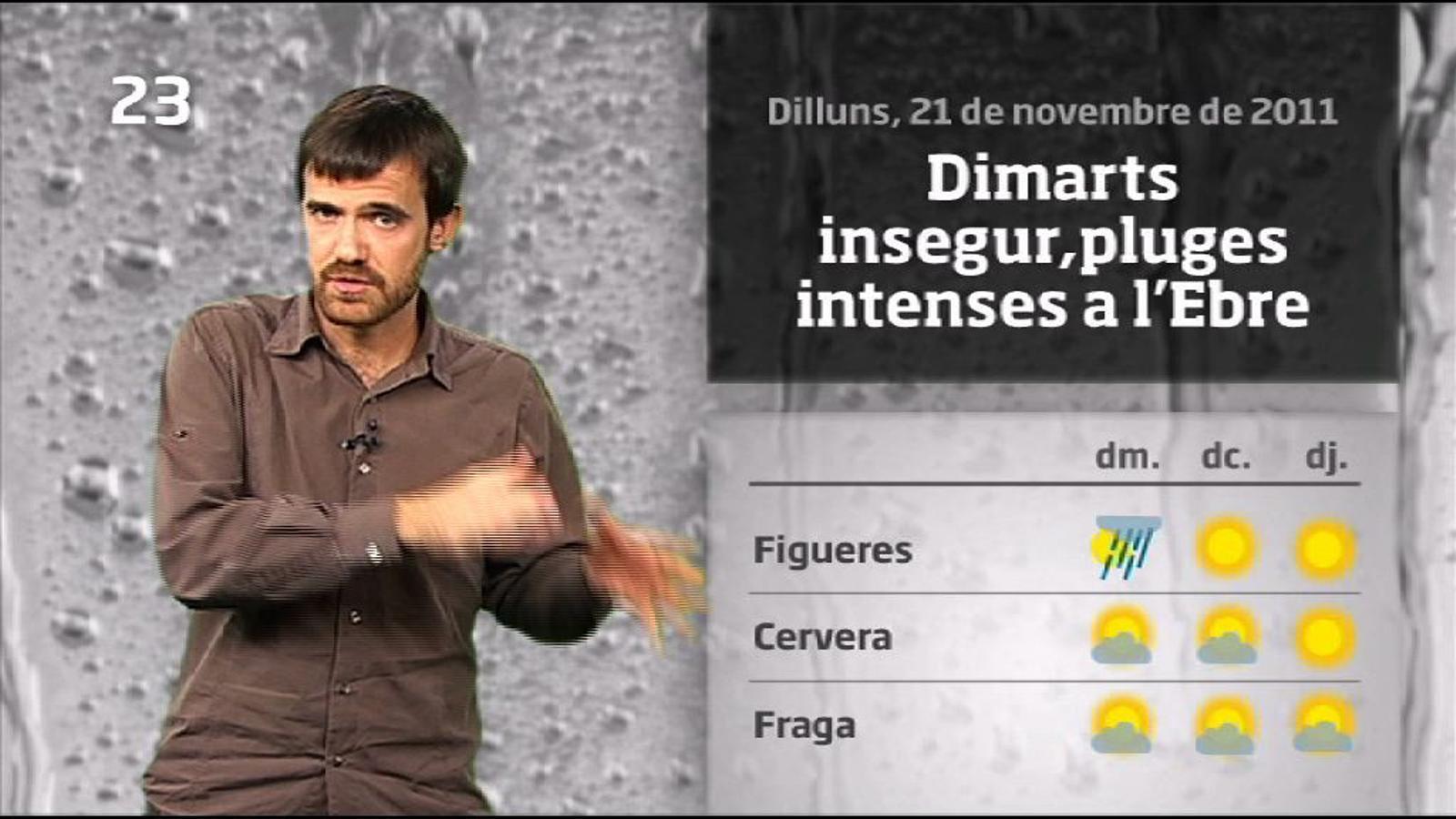 La méteo en 1 minut: més aiguats fins dimecres (22/11/2011)