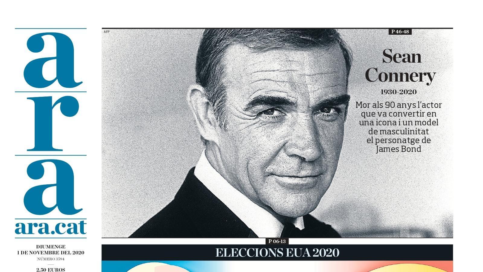 La portada de l'ARA de l'1 d'octubre de 2020