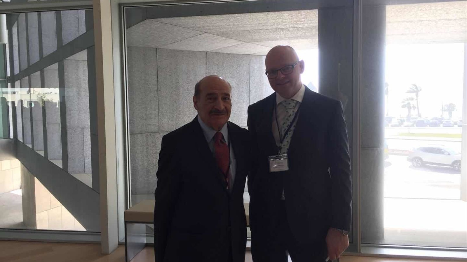 Jafar Jafari, dreta, i Antoni Riera al Fòrum d'Intel·ligència Turística del 2018, a Palma