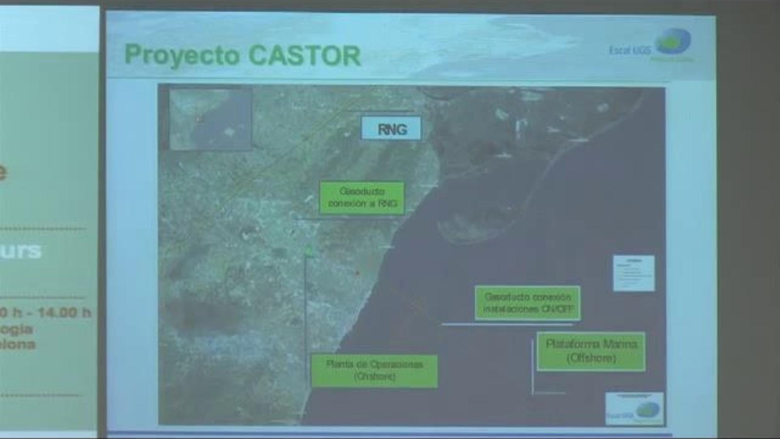 El president del magatzem de gas Castor va admetre al maig del 2013 que es va voler instal·lar a Catalunya