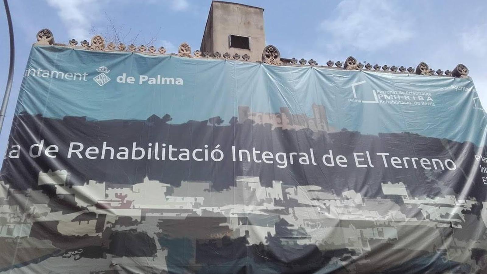 Pancarta de l'Ajuntament de Palma