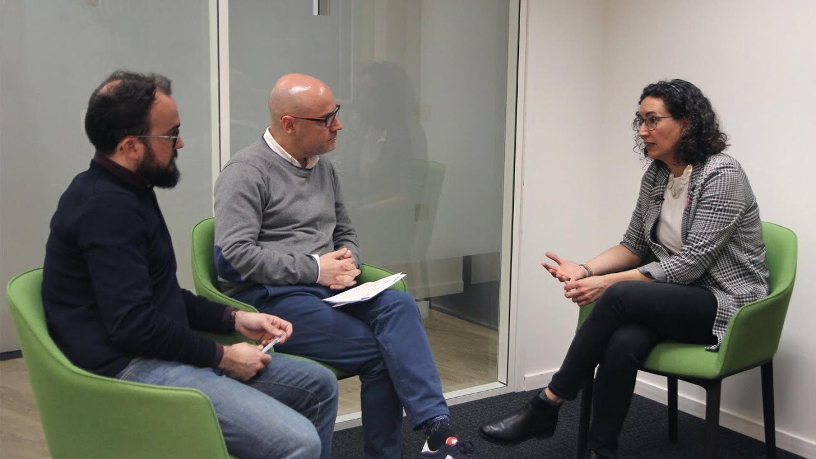 Entrevista de David Miró i Gerard Pruna a Marta Rovira