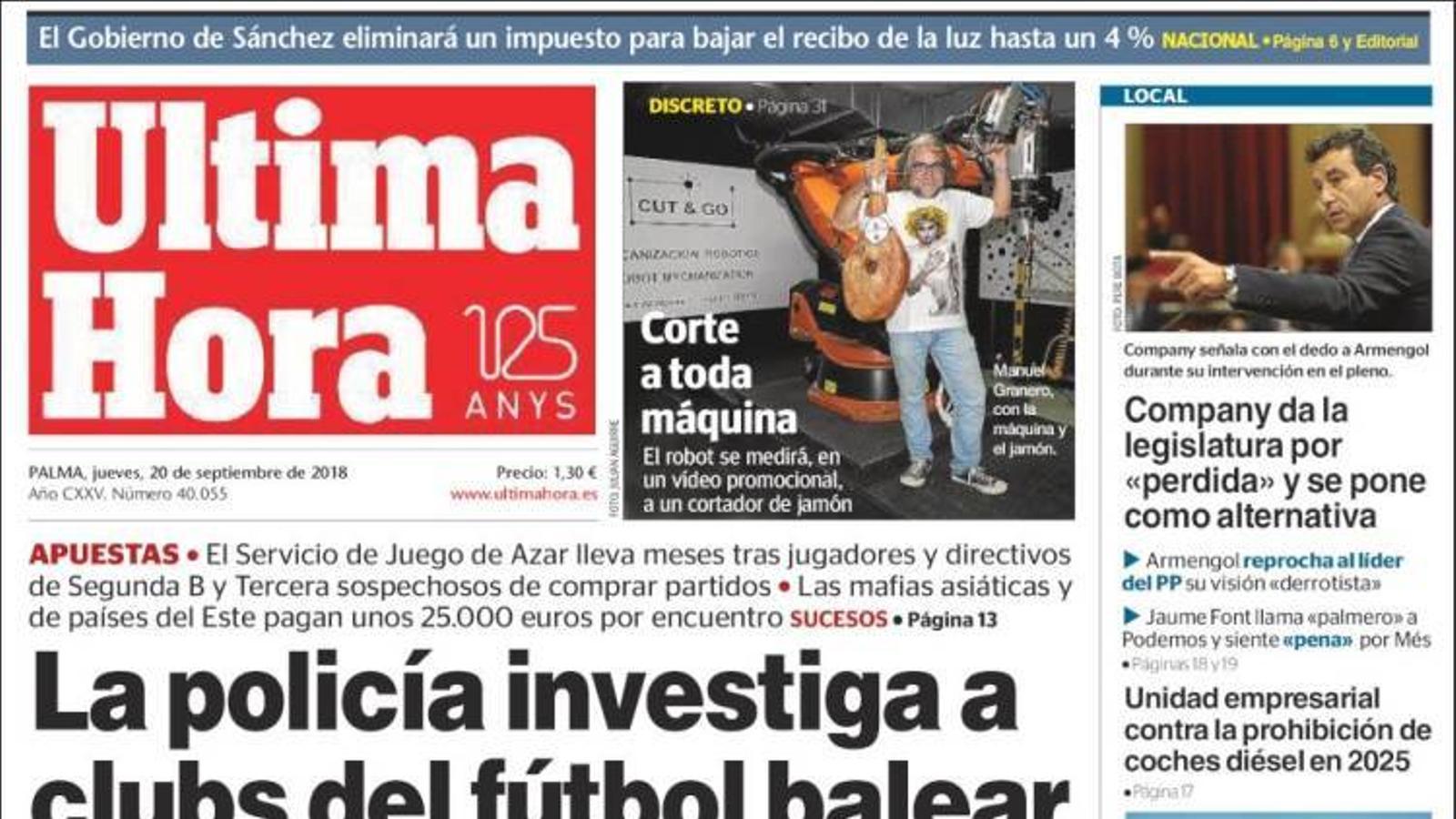 """""""Sánchez, en la seva trinxera"""", portada de l''Abc'"""