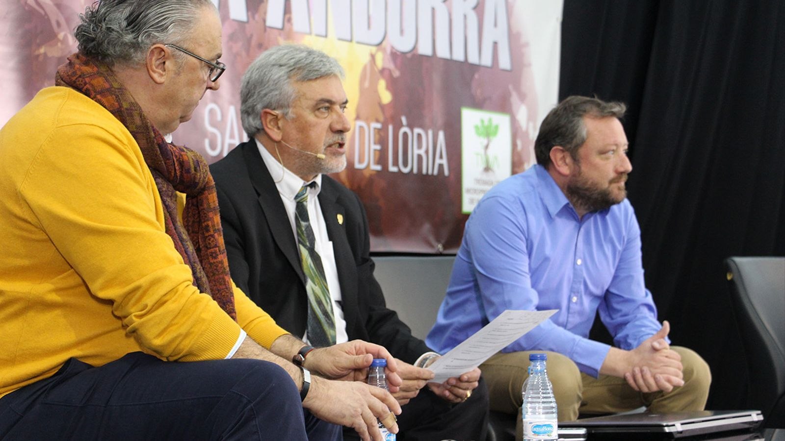 La roda de premsa d'aquest dilluns a Sant Julià de Lòria. / B. N. (ANA)