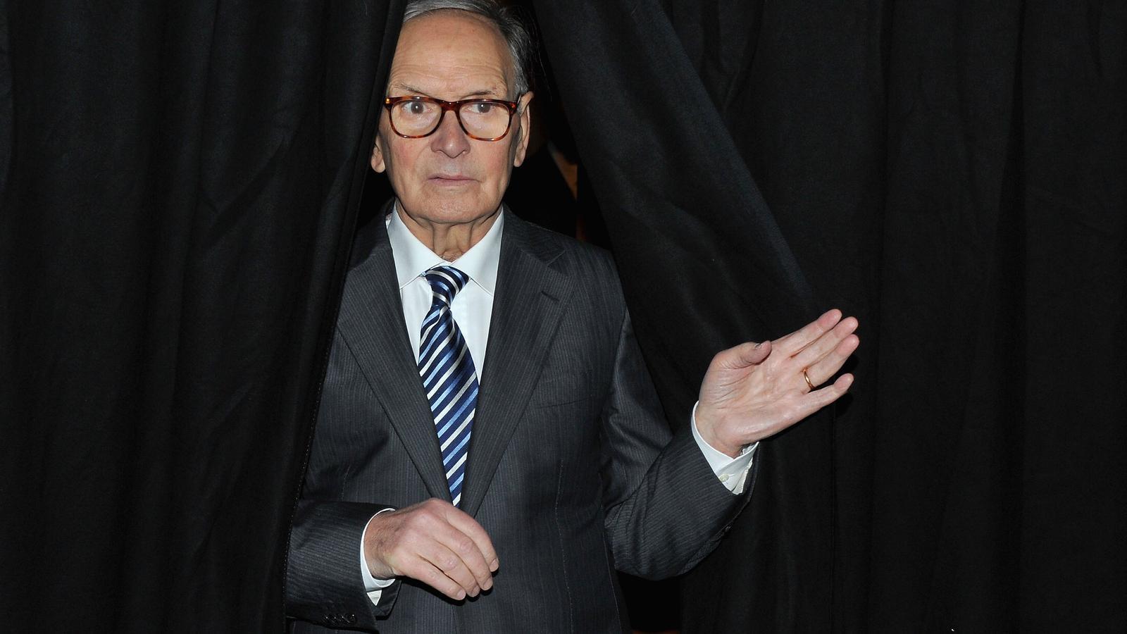 El compositor i director d'orquestra Ennio Morricone al 5è Festival Internacional de Cinema de Roma el novembre de 2010