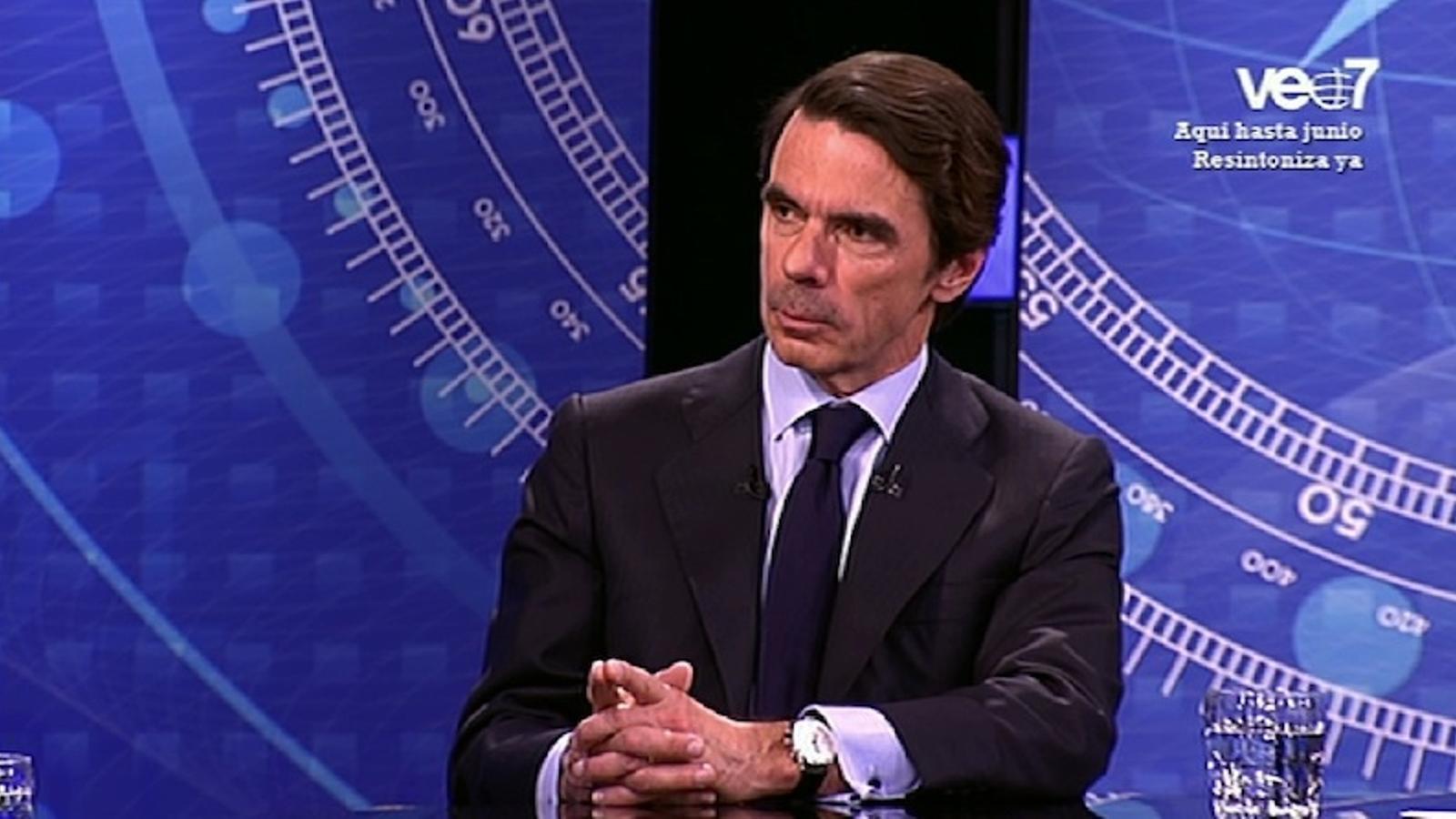 Aznar no aconsella la deriva sobiranista de CiU