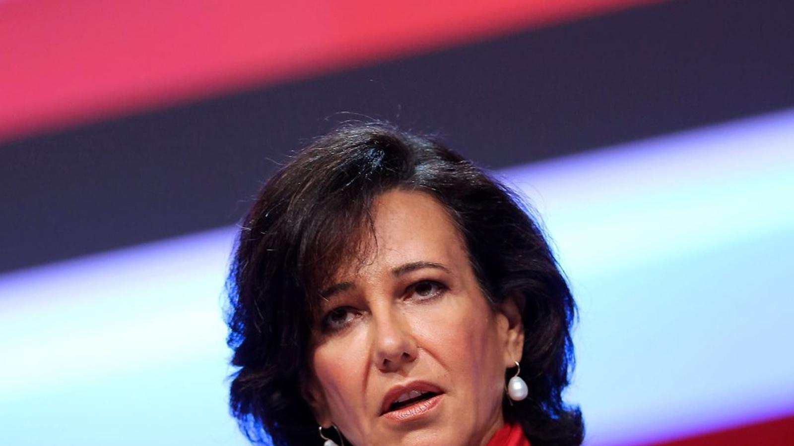 La presidenta del Banc Santander, Ana Botín, en una imatge d'arxiu.