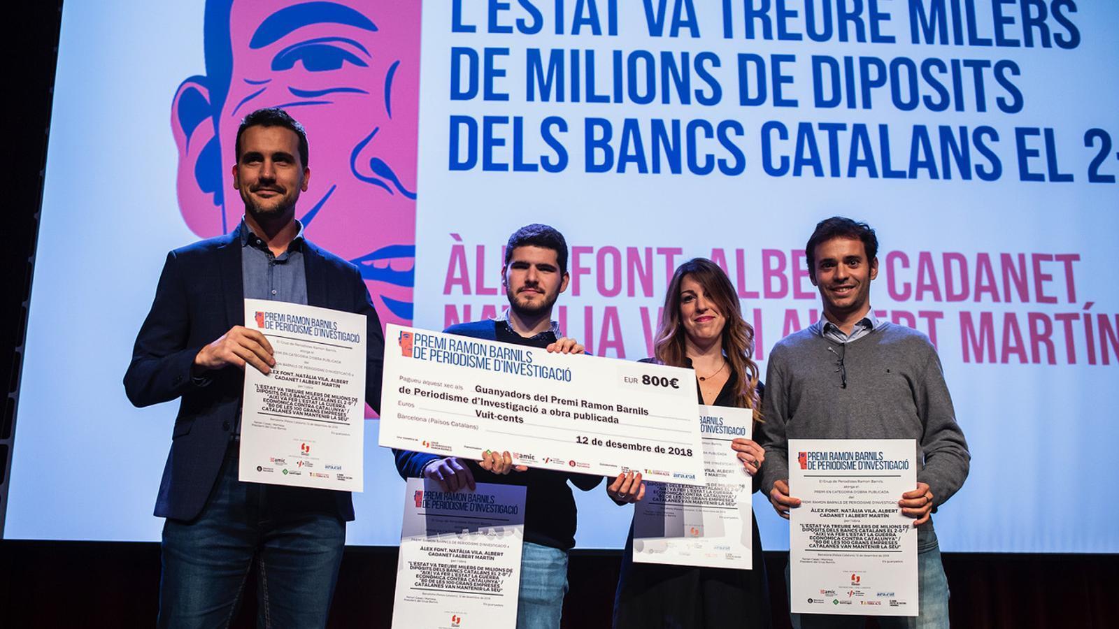 Premi Barnils a l'ARA per investigar la repressió econòmica de l'Estat