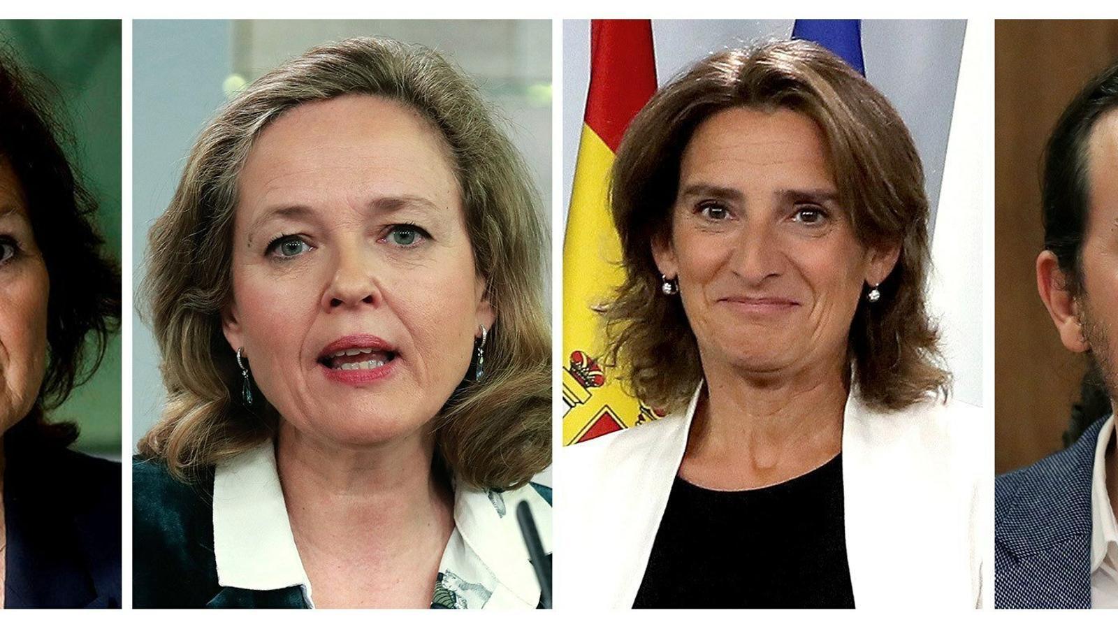 Sánchez treu pes a Iglesias sumant una quarta vicepresidència al govern