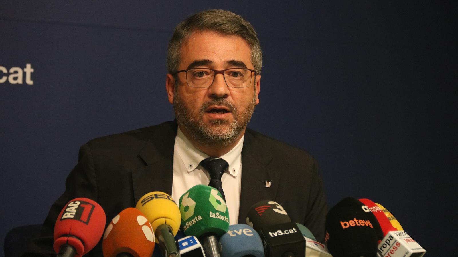 El cap polític dels Mossos plega a les portes d'una tardor tensa per al cos