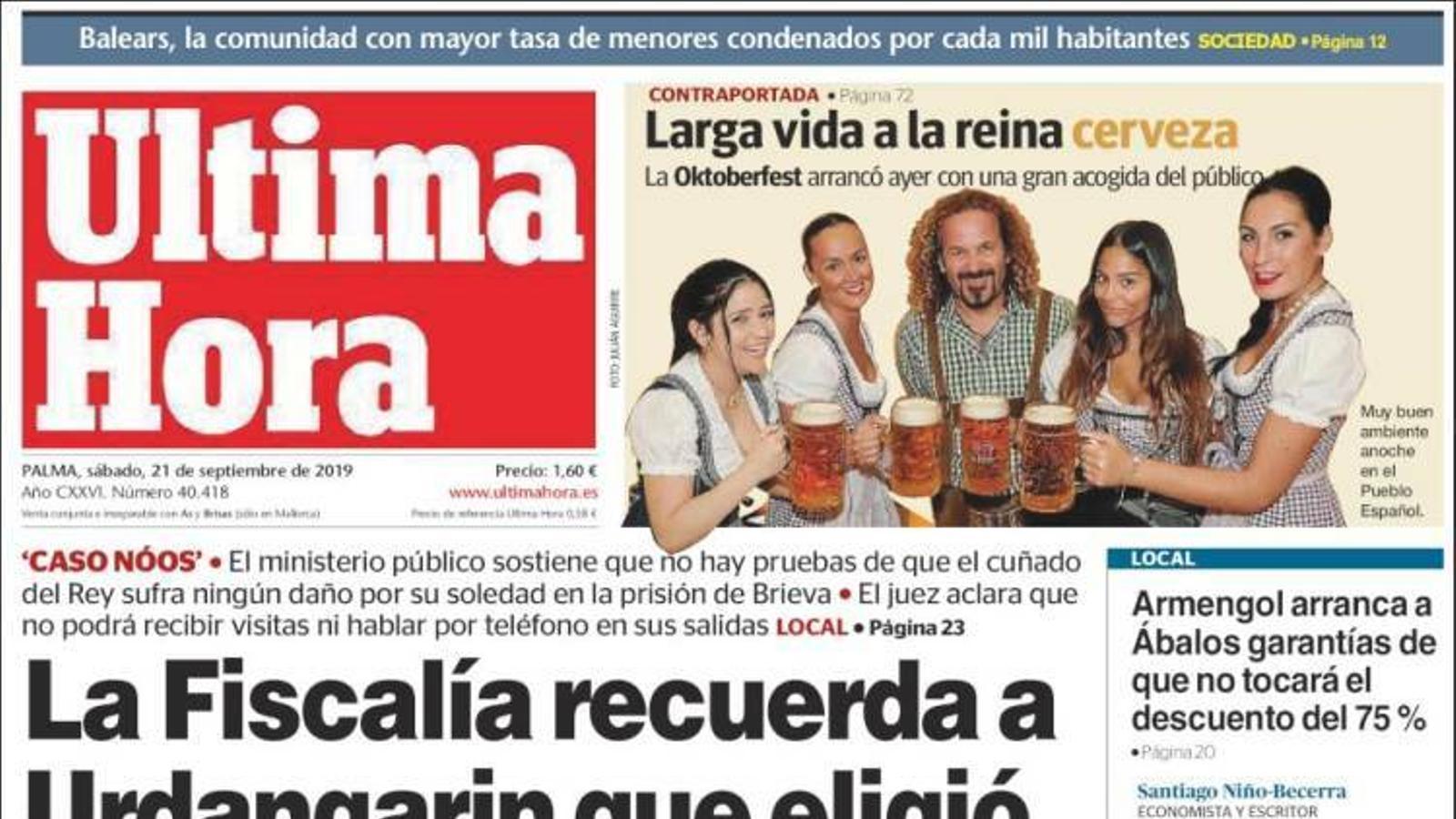 """""""Els Mossos mobilitzen els seus antiavalots davant la sentència del procés"""", a la portada de 'La Vanguardia'"""