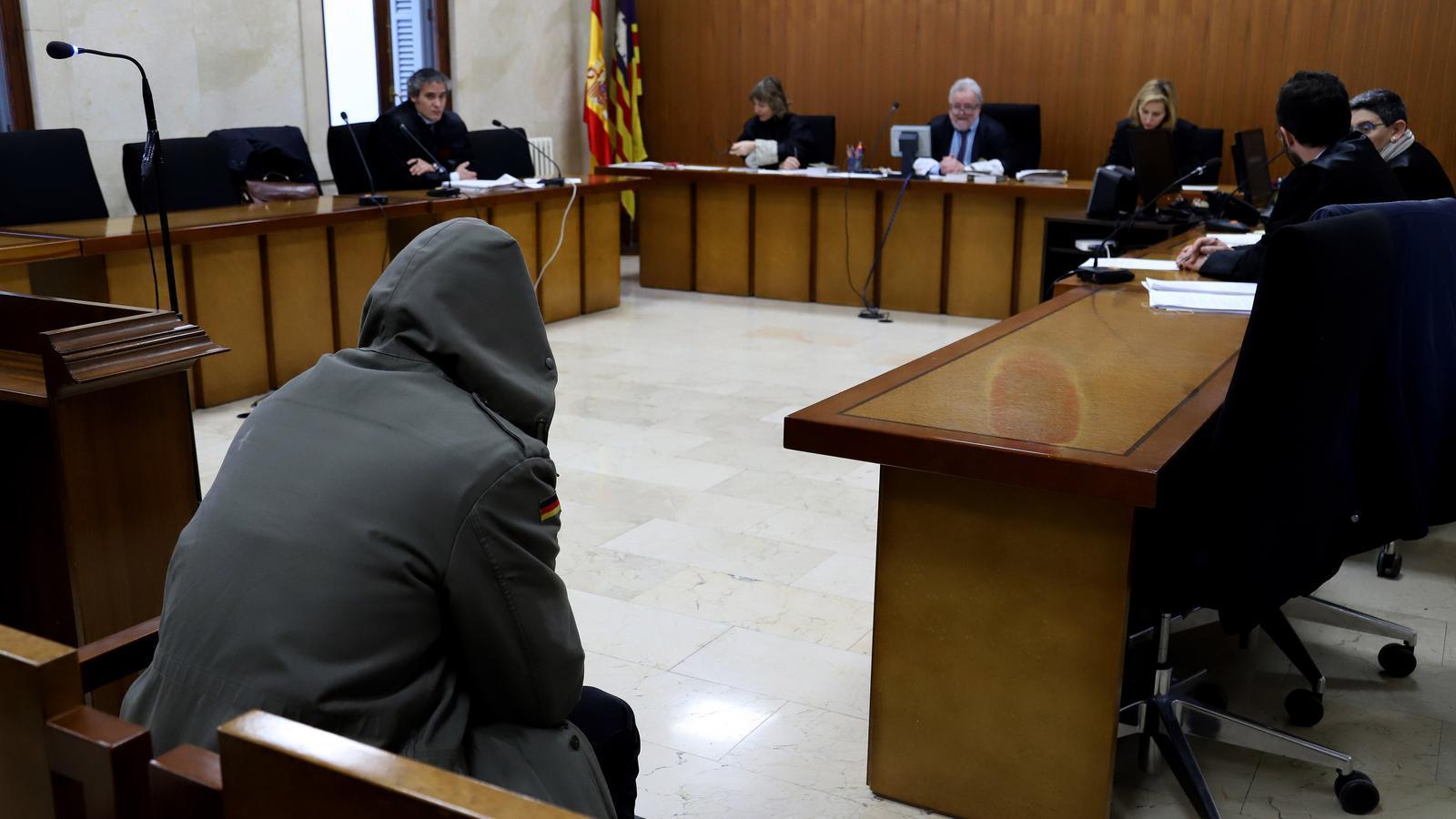 Imatge del judici a la Secció Segona de l'Audiència Provincial de Palma
