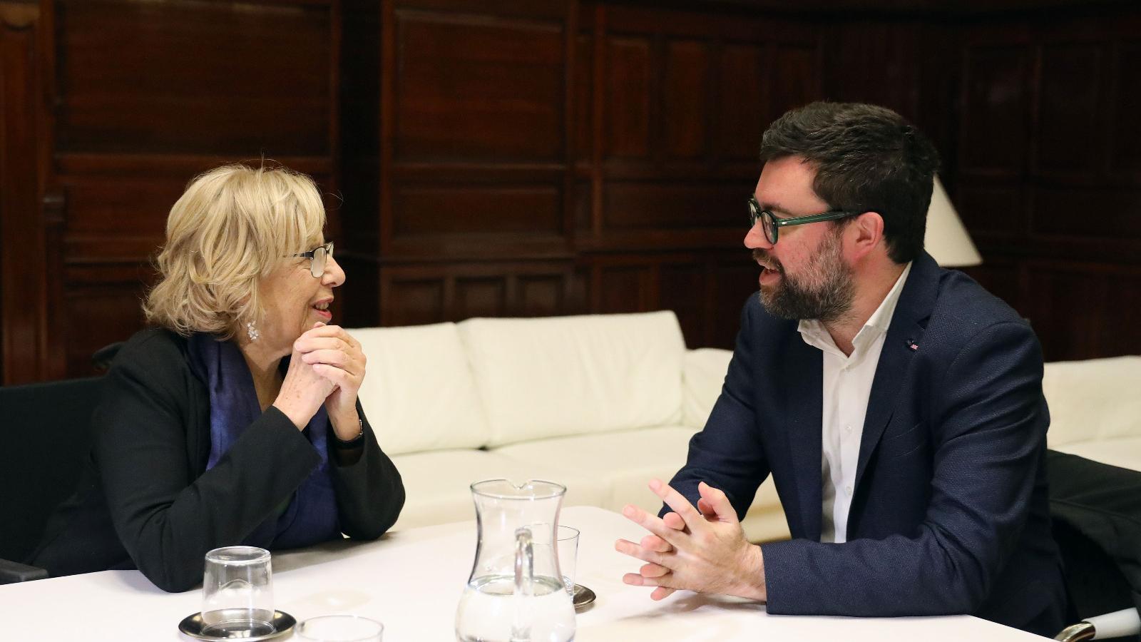El batle de Palma, Antoni Noguera, es reuneix amb la batlessa de Madrid, Manuela Carmena