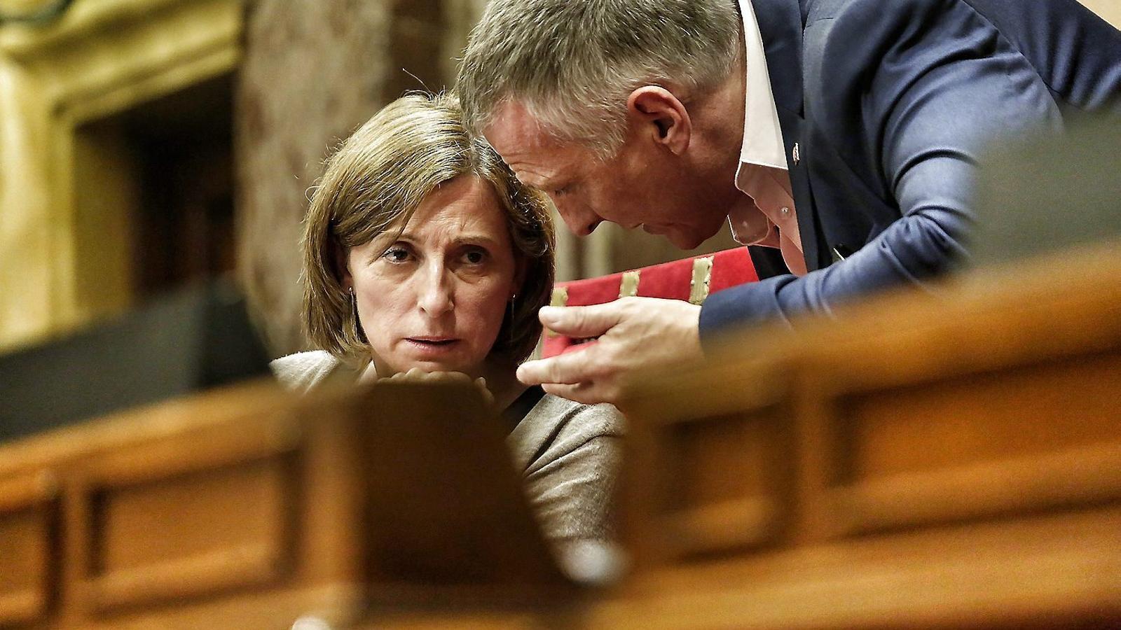 Carme Forcadell, a la foto en l'últim ple del Parlament, va ser escollida diputada i presidenta de la cambra després de presidir l'ANC.