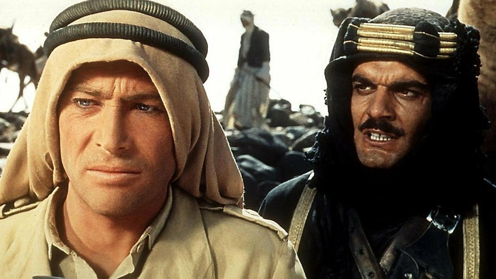Fotograma de Lawrence d'Aràbia (1962), dirigida per  David Lean i protagonitzada  per Peter O'Toole.