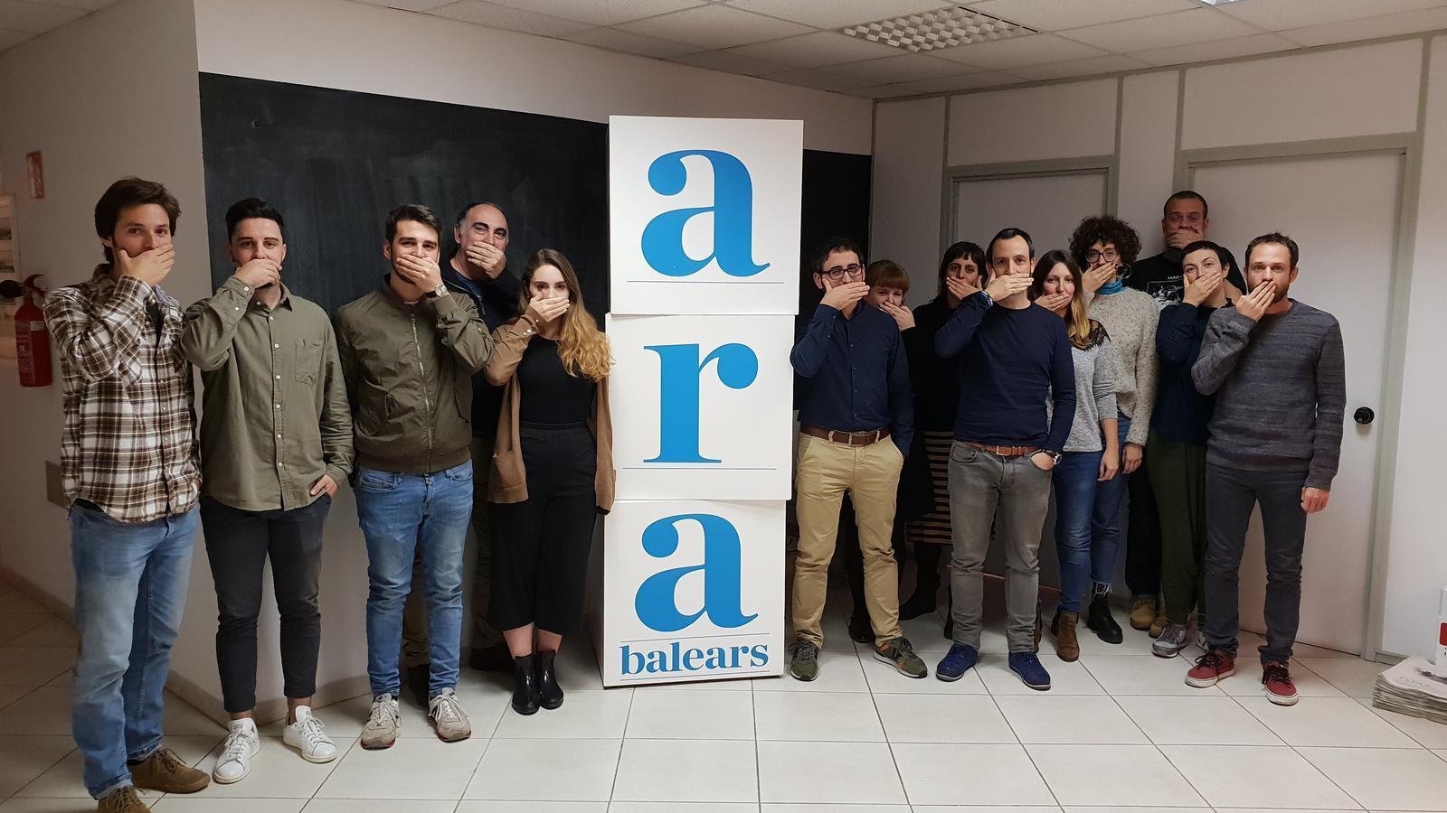 La redacció de l'ARA Balears protesta per l'actuació judicial contra dos periodistes d'Europa Press i 'Diario de Mallorca'