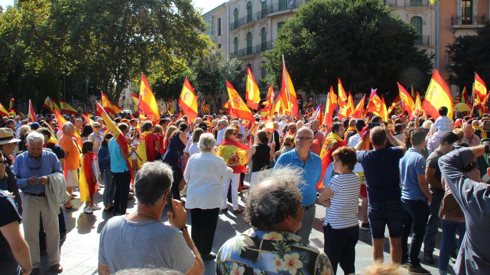 Manifestació espanyolista a Palma