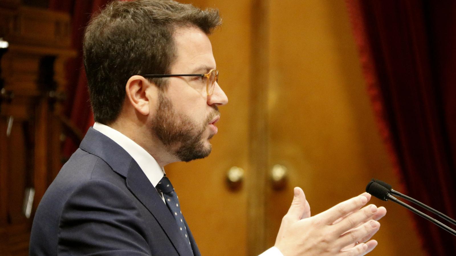"""Aragonès qualifica de """"vergonya"""" que el cap de la Guàrdia Civil a Catalunya """"es posicioni políticament"""" i la JEC """"calli"""""""