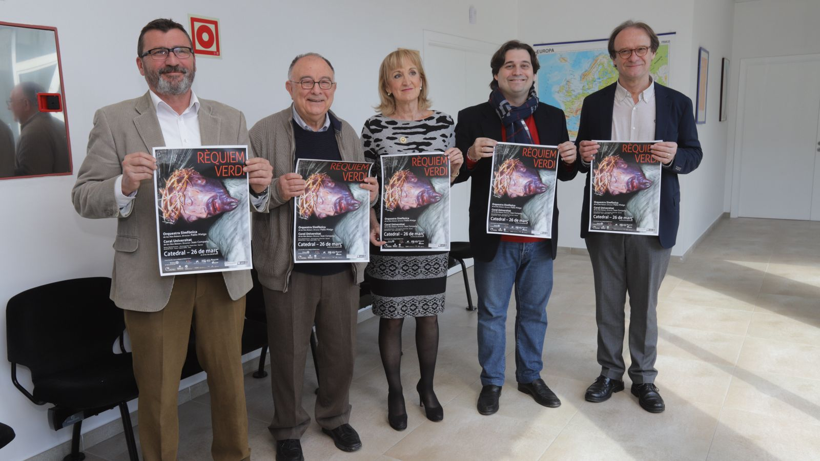 Jesús Mullor, Tomeu Català, Pilar Abad, Pablo Mielgo i Joan Company, han presentat el concert de Requiem dilluns.