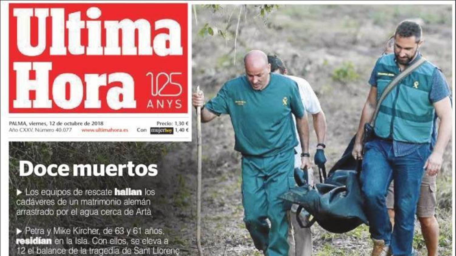 """""""Els socis de Sánchez reproven el rei la vigília del 12 d'octubre"""", a la portada de 'La Razón'"""