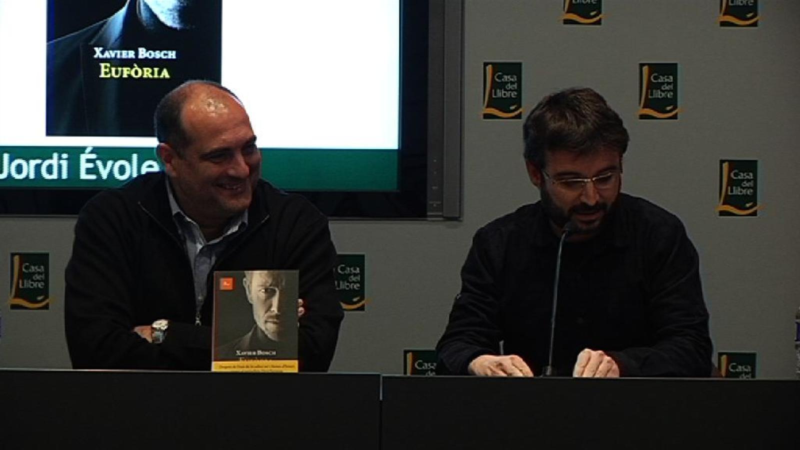 Évole, en presentar la nova novel·la de Xavier Bosch: M'agrada tant que no vull que se m'acabi